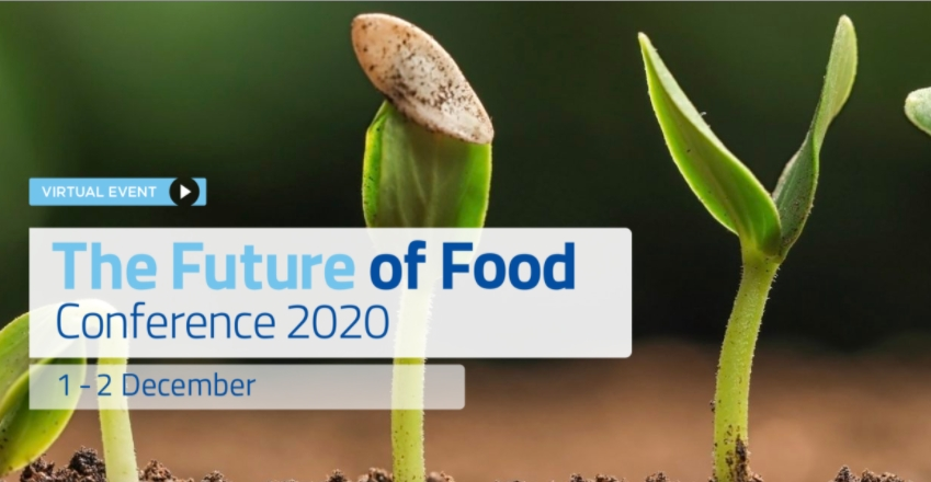 UPCOMING: EIT Food Future of Food online Conference 2020, 1-2 December