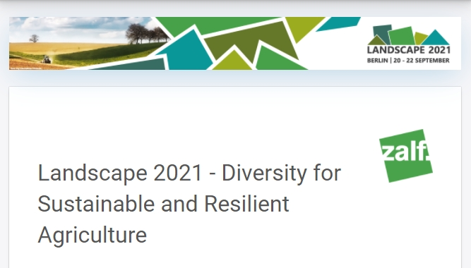 UPCOMING:  Landscape 2021 - Diversity for Sustainable and Resilient Agriculture