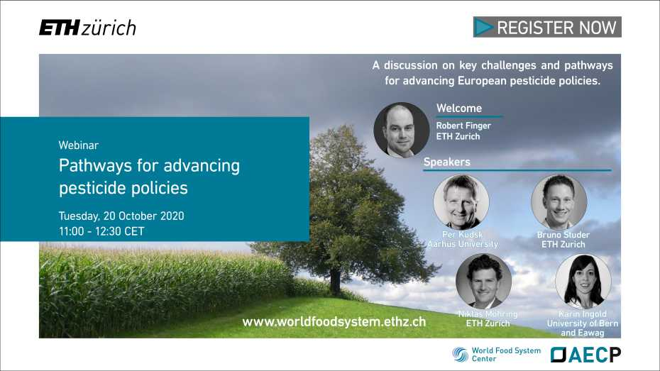 Public Webinar on 'Pathways for advancing pesticide policies', 20 October 2020