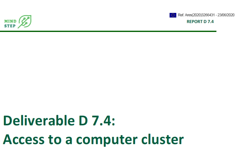 Deliverable D 7.4: Access to a computer cluster